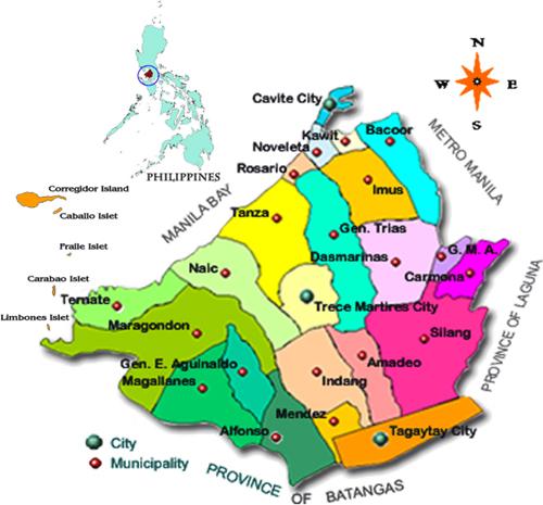 Map of Cavite